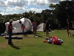 Putting up the Tent 1