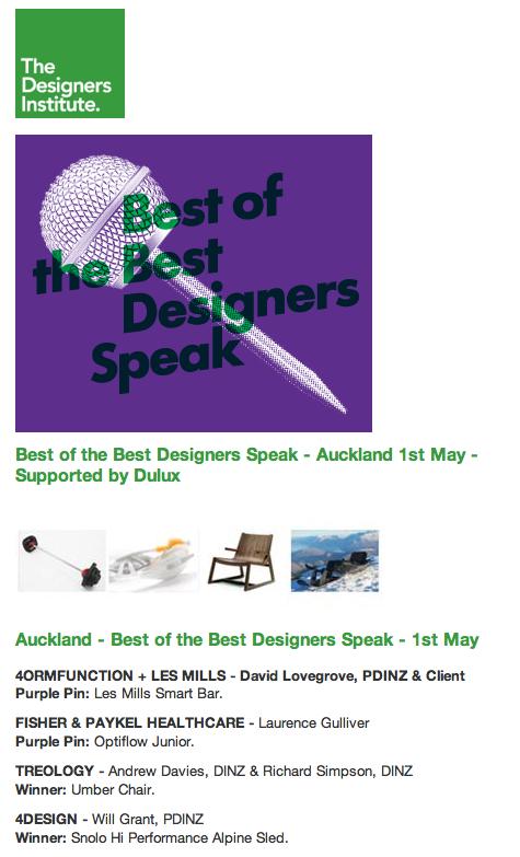 Reminder! Best of the Best Designers Speak
