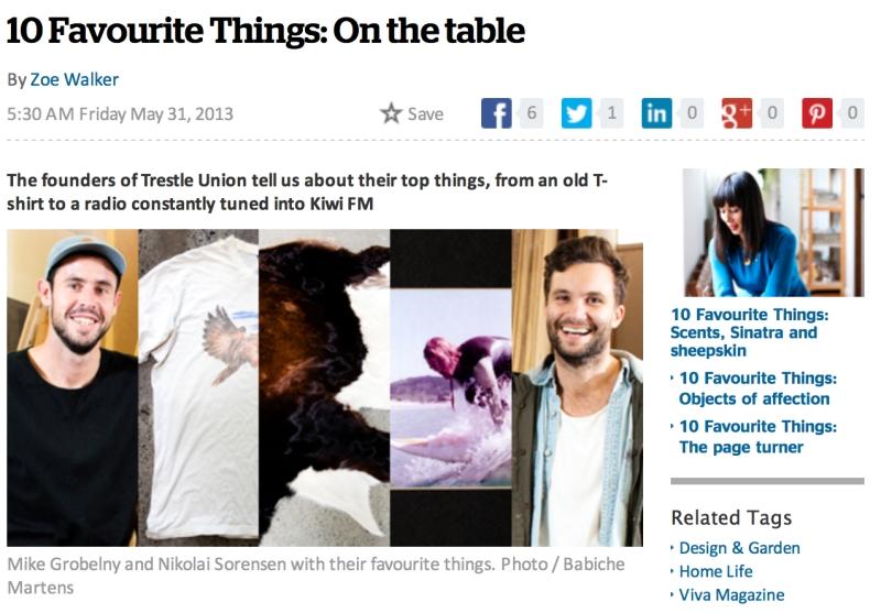 Mike and Nikolai: favourite things
