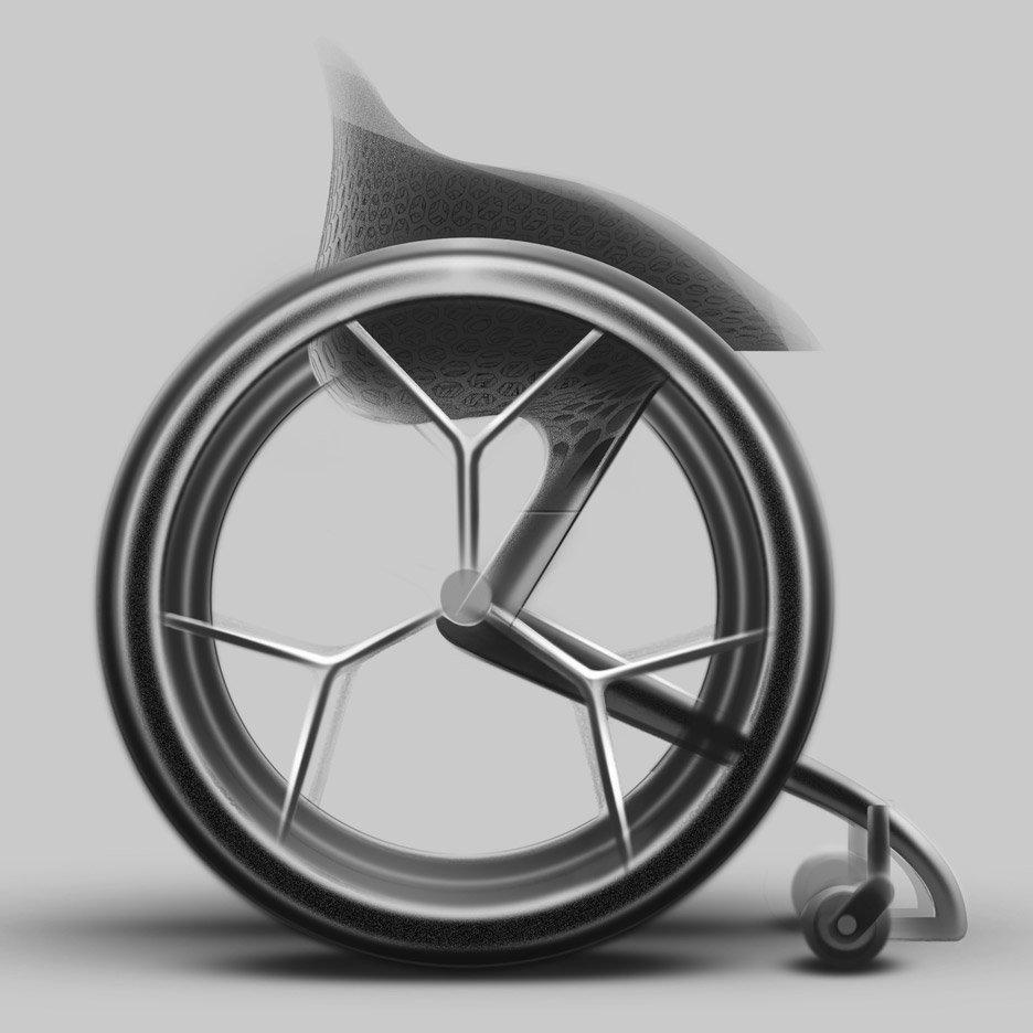 Layer s 3d printed wheelchair industrial design and for 3d printer layouts